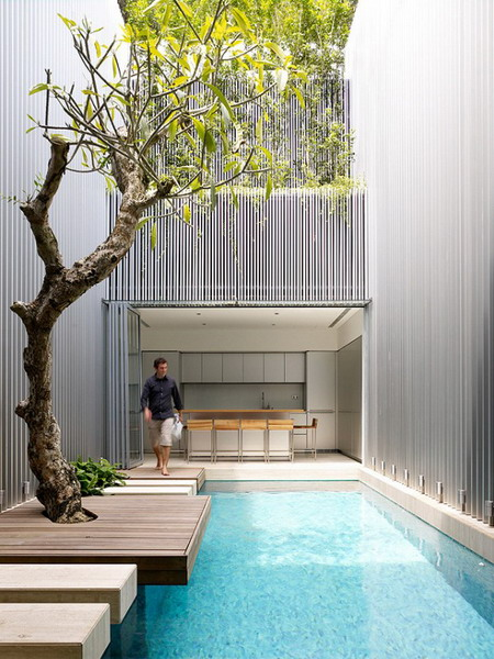 Amazing-Courtyard-design-with-swimming-pool-582x775