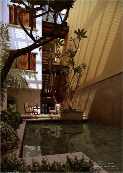 Italian-Style-Courtyard-design-with-pool-582x820