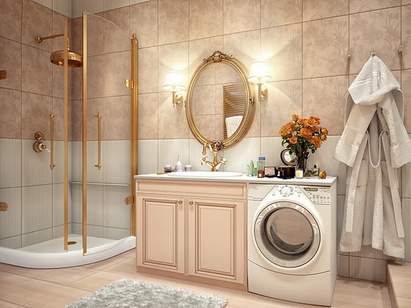 kientrucnhangoi-vintage-01-Bathroom-with-Gold-Detailing