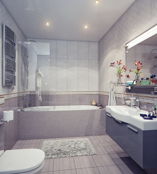 kientrucnhangoi-vintage-01-Bathtub-and-Sink-Unit-in-a-Modern-Bathroom