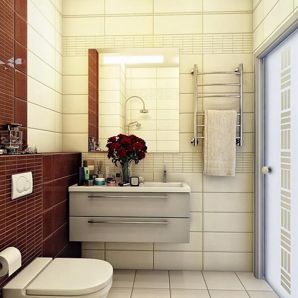 kientrucnhangoi-vintage-01-Colour-Blocking-Dark-Brown-Cream-Bathroom