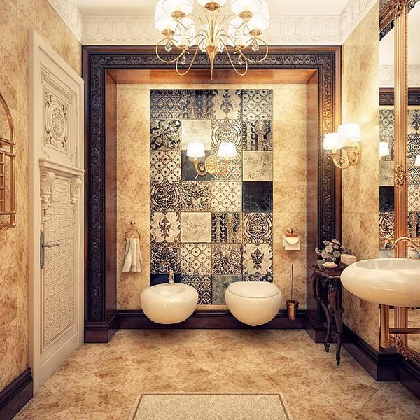 kientrucnhangoi-vintage-01-Luxurious-Feature-Wall