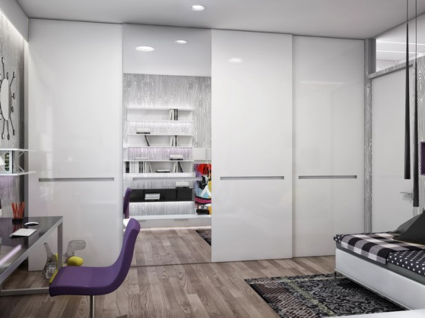 Black-white-home-office-study