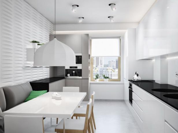 Black-white-kitchen-diner