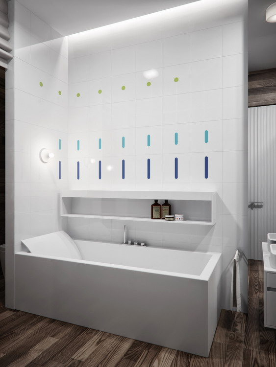 Contemporary-white-bathroom