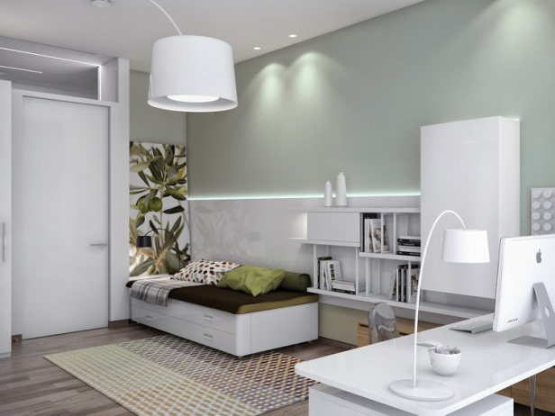 Neutral-guest-room-decor