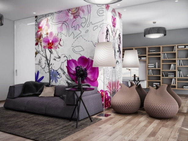 pink-white-gray-living-room-mirrored-wall