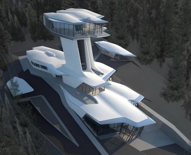 zaha hadid - spaceship house - 09