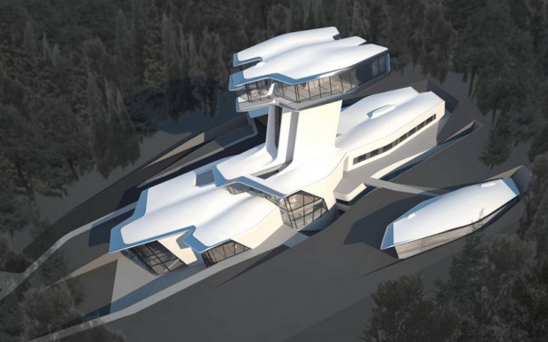 zaha hadid - spaceship house - 10