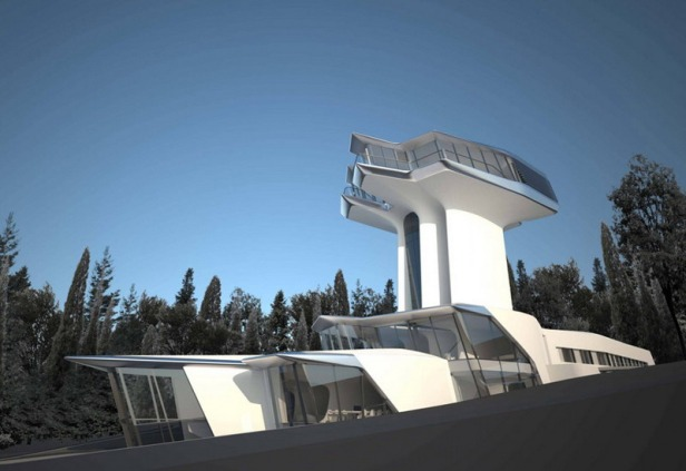 zaha hadid - spaceship house - 11