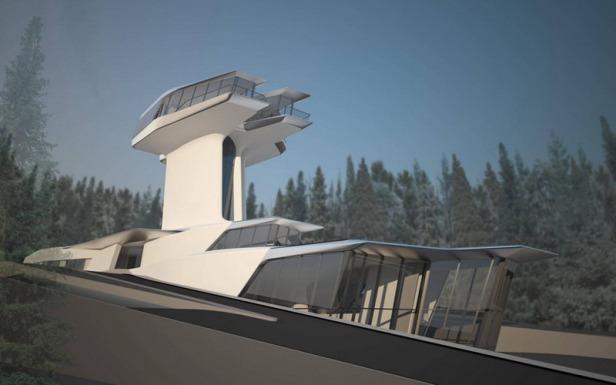zaha hadid - spaceship house - 12