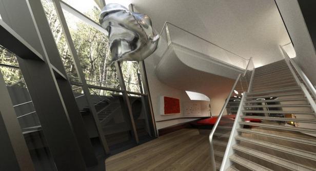 zaha hadid - spaceship house - 16