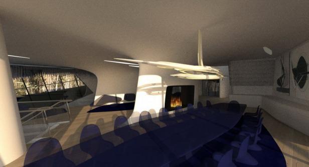 zaha hadid - spaceship house - 18
