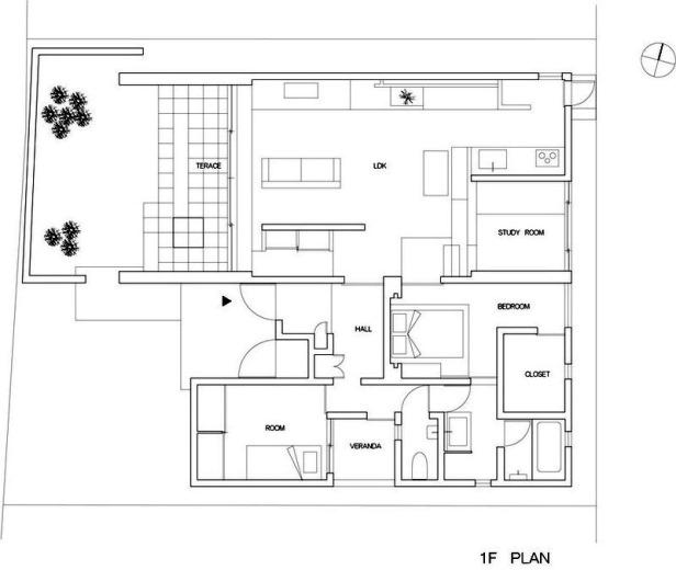 Gable House _ FORM _ Kouichi Kimura _ 031 plan