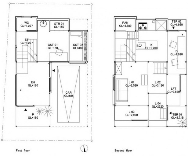 House NA plan - section - elevation 01