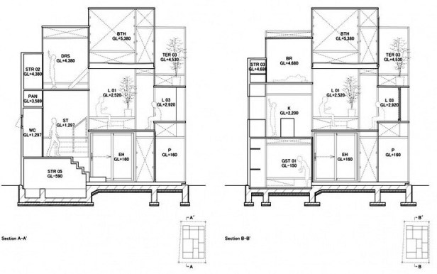 House NA plan - section - elevation 05