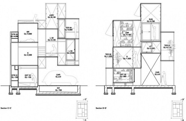 House NA plan - section - elevation 06