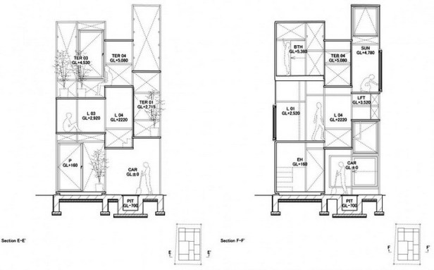 House NA plan - section - elevation 07