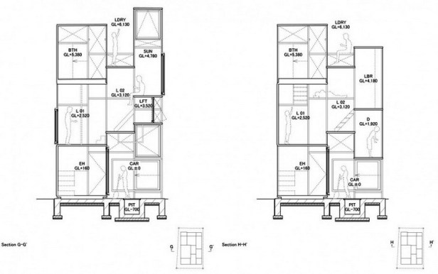 House NA plan - section - elevation 08