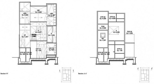 House NA plan - section - elevation 09