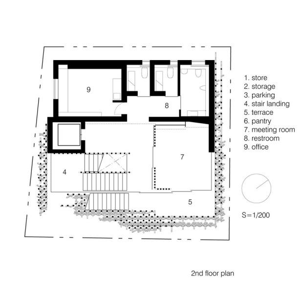 sunnyhills-at-minami-aoyama-kengo-kuma-associates_second_floor_plan