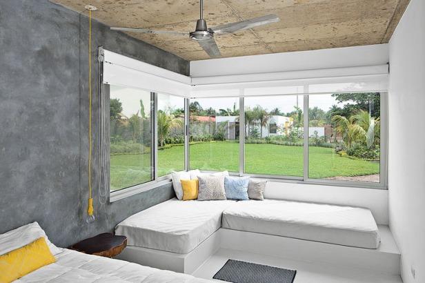 main-bedroom-concrete-walls-pendant-lamp